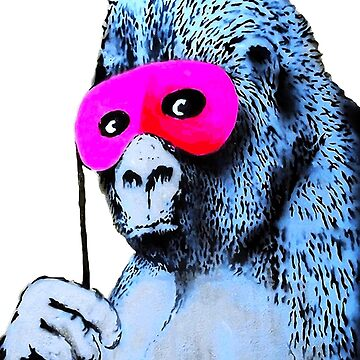 Banksy Gorilla in a Pink Mask by furioso
