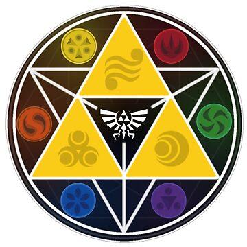 Legend Of Zelda Sacred Symbols by SephReads
