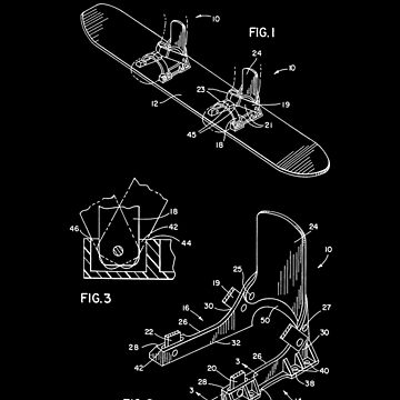 Snowboard Patent Gifts Posters T-Shirts by MarkCompton