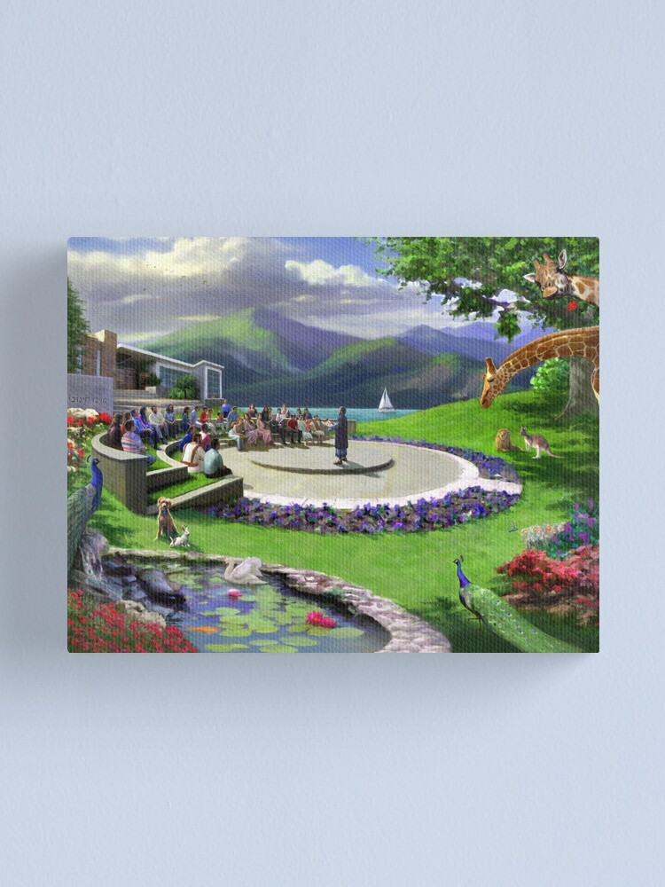 Alternate view of Theocratic Education in Paradise Canvas Print