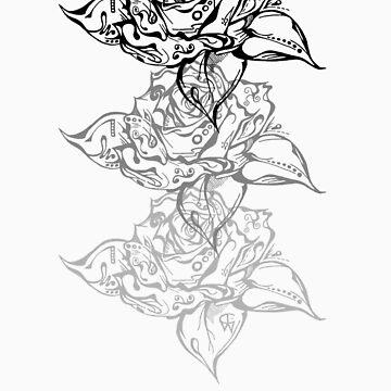 Triple Doodle Rose by artCEW