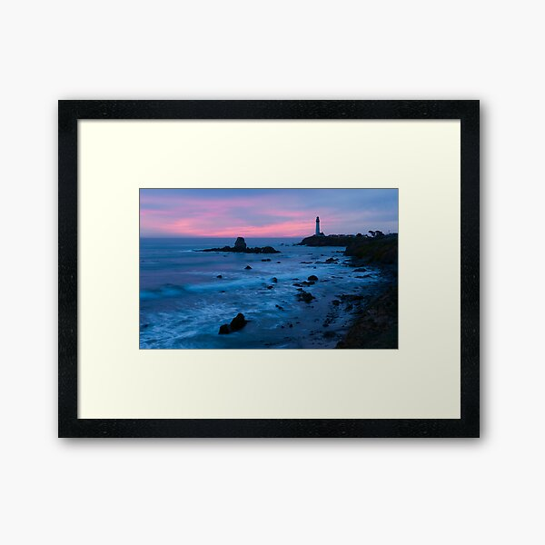Pigeon Point Lighthouse Dusk-2 Framed Art Print