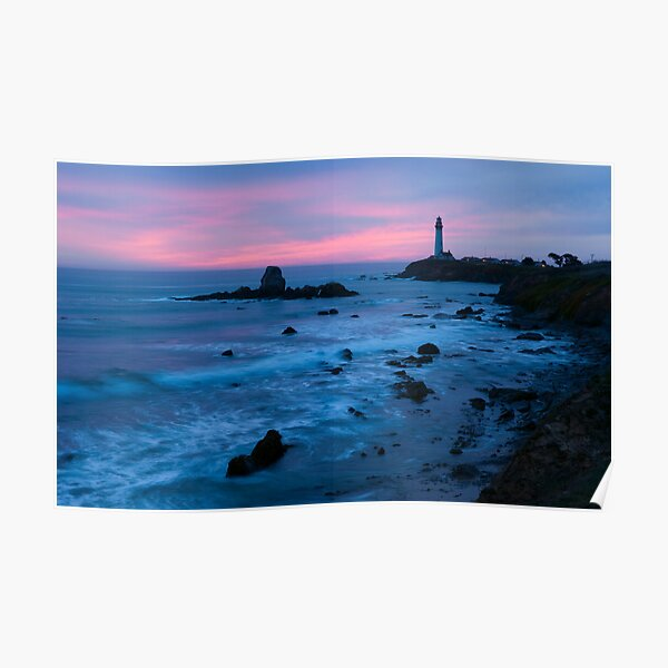 Pigeon Point Lighthouse Dusk-2 Poster