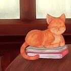 Library Cat by thekohakudragon