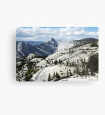 Half Dome in Yosemite National Park from Olmsted Point Metal Print