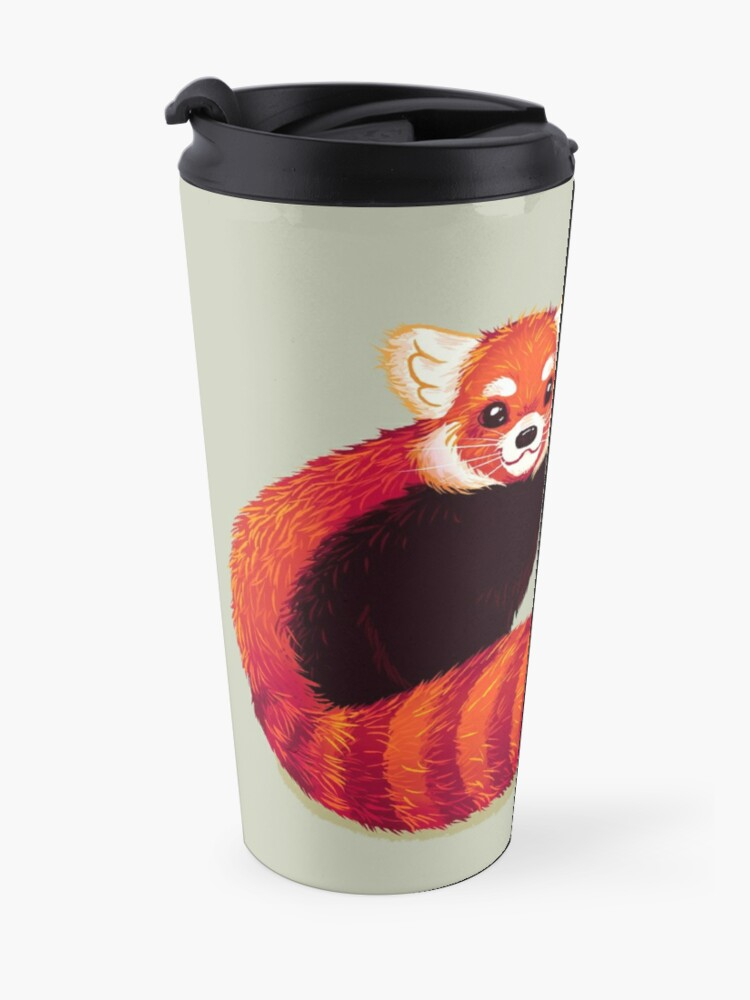 """Alternate view of """"You are both STRONG and SMART enough"""" Red Panda Travel Mug"""