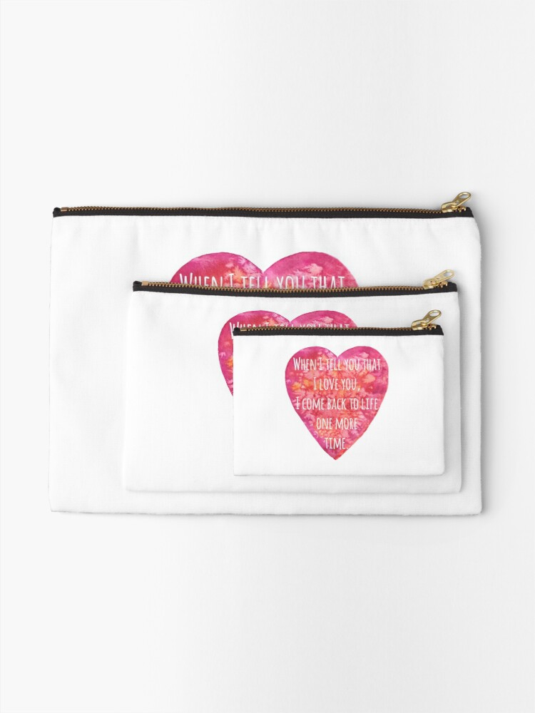 Alternate view of Valentine's day Love quote - Back to Life! Zipper Pouch