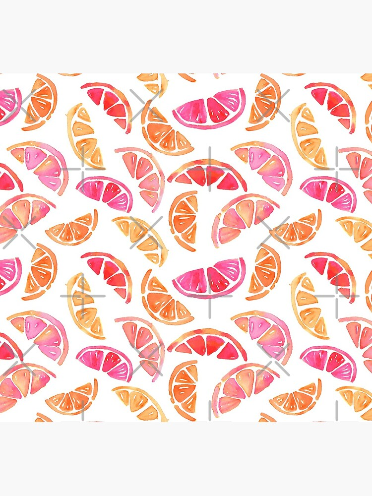 Hand Painted Watercolor Pattern - Citrus Slices by annieparsons