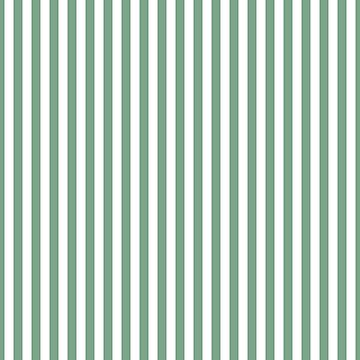 Sage Green and White Vertical Deck Chair Stripes by podartist