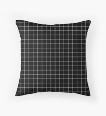 Black window pane print Throw Pillow
