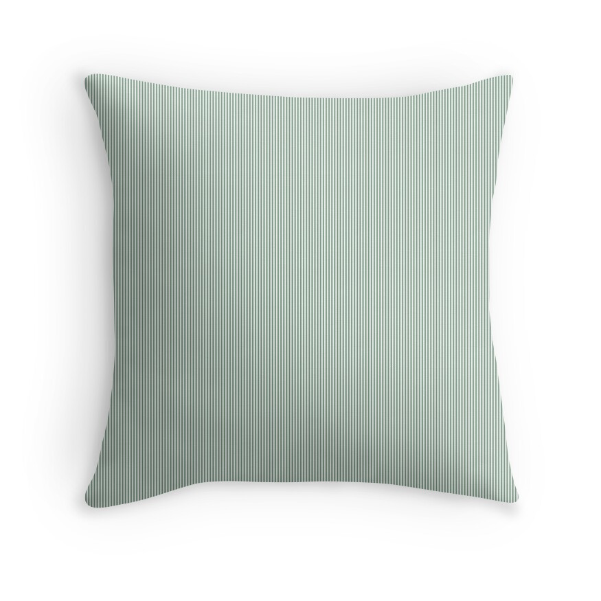 Mini Sage Green and White Vertical Pin Stripes