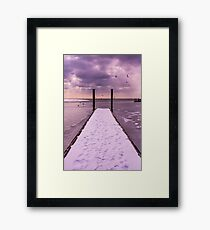 Winter Dock Framed Print