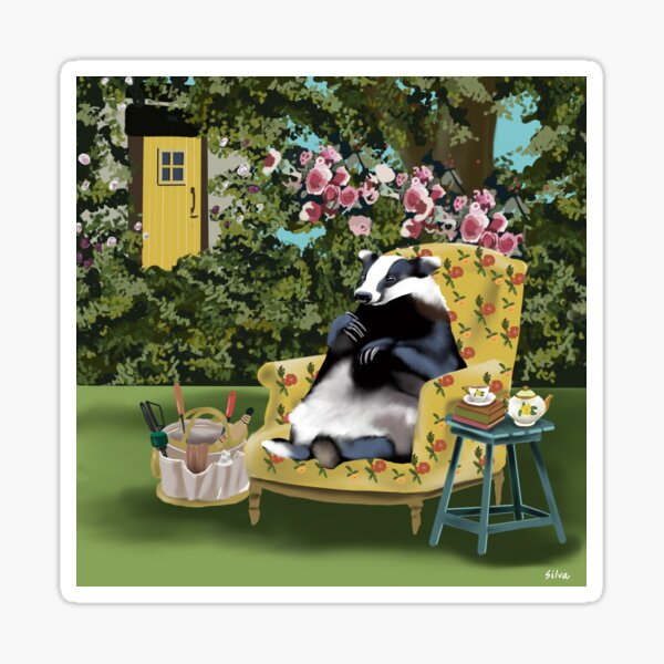 Blanche the Badger Sticker