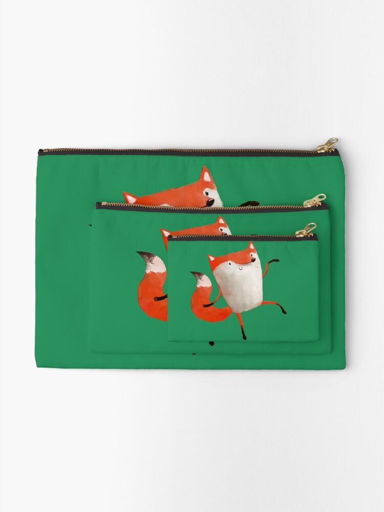 Alternate view of Happy Dancing Fox Zipper Pouch