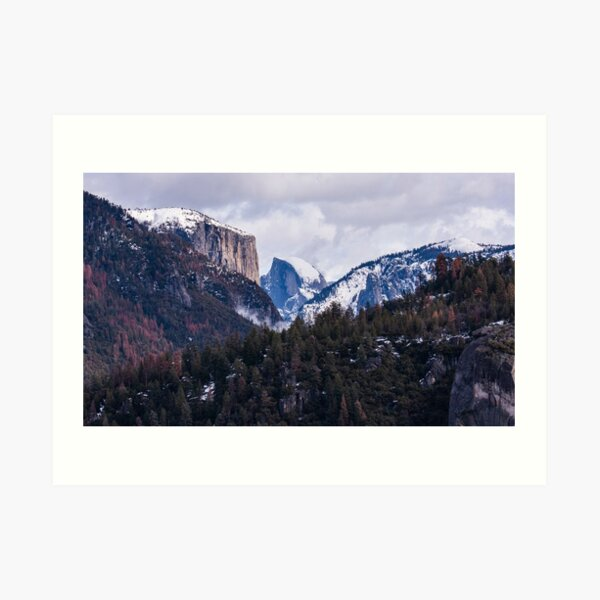 Yosemite Winter Art Print