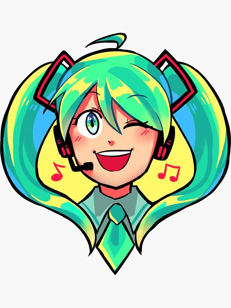 hatsune miku sticker by gummymela redbubble
