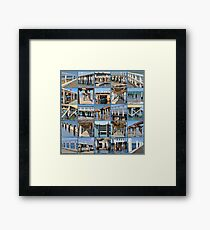 Pier And Jetty Collage Framed Print