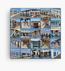 Pier And Jetty Collage Canvas Print