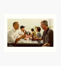 anthony bourdain and barack obama poster Art Print