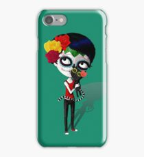 Girl with Black Cat iPhone Case/Skin