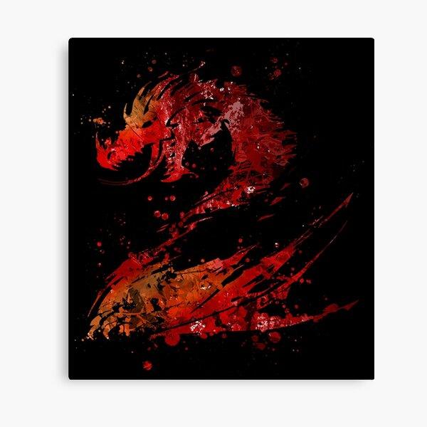Guild Wars 2 (Lite) Splatter Canvas Print