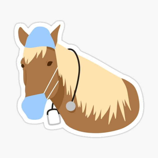 Horse Loose in a Hospital | Sticker Sticker