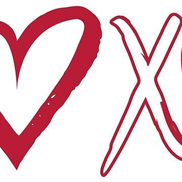 Valentine's Day Shirt XOXO, XOXO T Shirt, XOXO Shirt, Valentines Tshirt, Valentines Day Shirt, Love Shirt, Valentines Shirt, Women's Valentine's Shirt, T-Shirt by damhotpepper