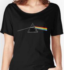 Camiseta ancha para mujer Pink Floyd lado oscuro de la luna - fondo de nubes