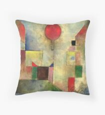 Paul Klee Red Balloon | Unique Paul Klee-inspired Items w/ Artist's Signature Throw Pillow