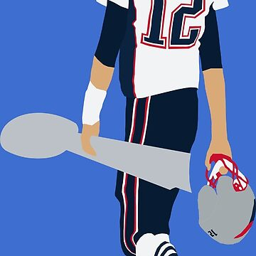 Tom Brady Walk Off With Lombardi Trophy by RatTrapTees