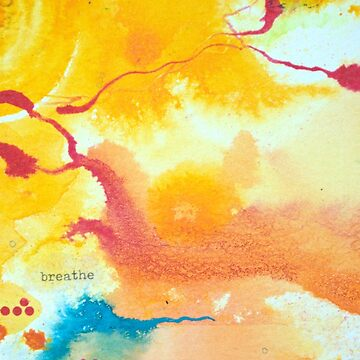 Breathe affirmation - Bright abstract painting by KoreSage