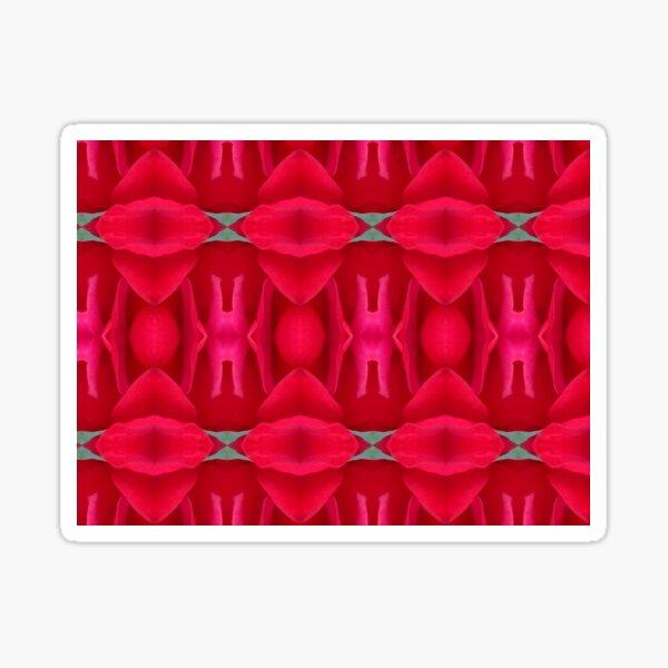 Red rose petal repeat pattern Sticker