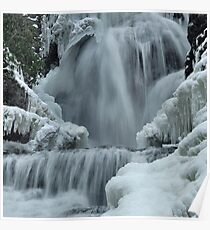 Winter Waterfall Detail Poster