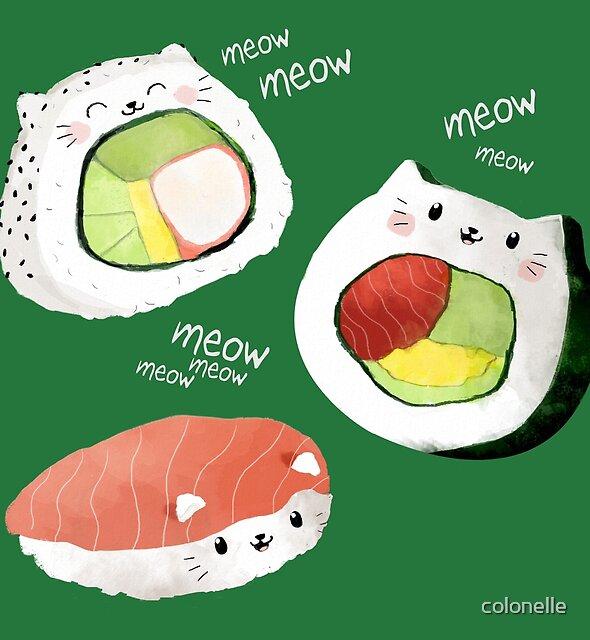 « Rouleaux de sushi mignon » par colonelle