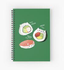 Cute Sushi Rolls Spiral Notebook