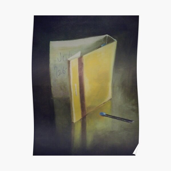 #wood #Painting #Yellow #StillLife #ModernArt #indoors #paper #one #writing Poster