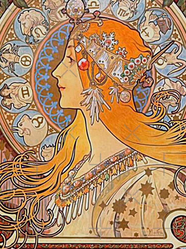 Alphonse Mucha,Zodiac,Art nouveau,vintage,reproduction by love999