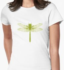Sage Dragonfly Womens Fitted T-Shirt