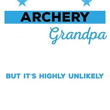 Funny Archery Grandpa Mens Tshirt Gift by mikevdv2001