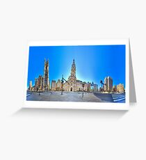 360 degree view ( MUST VIEW INTERACTIVE VERSION !  ) of the Philadelphia's Center City Greeting Card