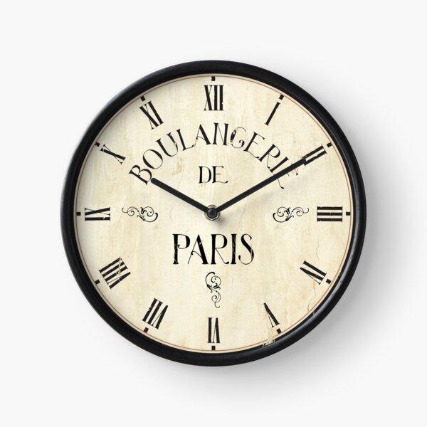 Boulangerie de Paris Vintage look Clock Clock