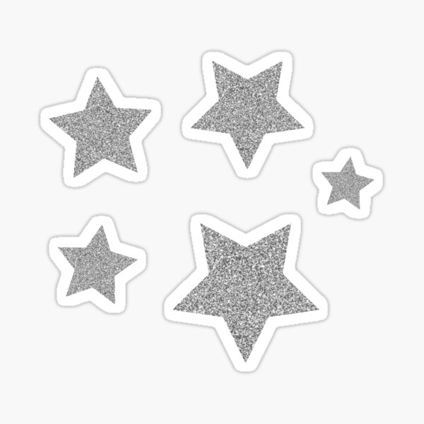 Silver Stars Sticker