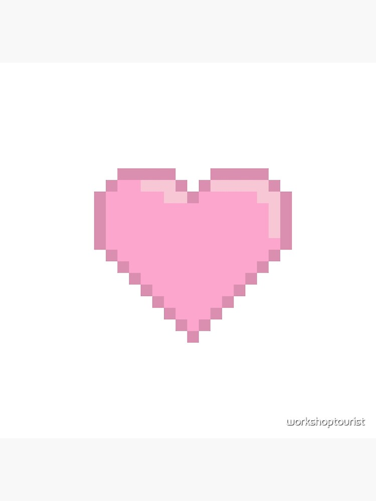 Pink Pixel Heart Art Board Print By Workshoptourist Redbubble