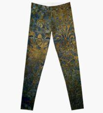 Grunge,damasks,rustic,worn,velvet,wall paper,victorian,damask Leggings