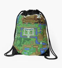 The Legend of Zelda: A Link to the Past Map Drawstring Bag