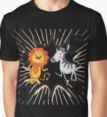 Lion vs Zebra Graphic T-Shirt
