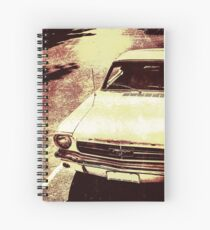 Vntage Ford Mustang Classic Car Spiral Notebook