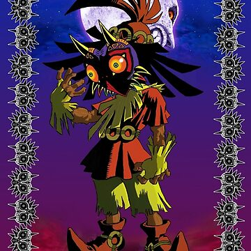 Majora's Mask - Skull Kid Card by navigata