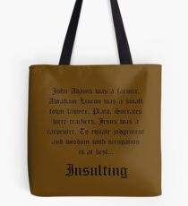 Judgment and Wisdom Tote Bag