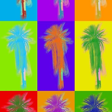 Poster with palm tree in pop art style by anytka